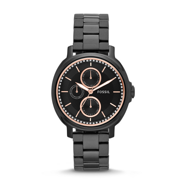 Chelsey Multifunction Stainless Steel Watch - Black