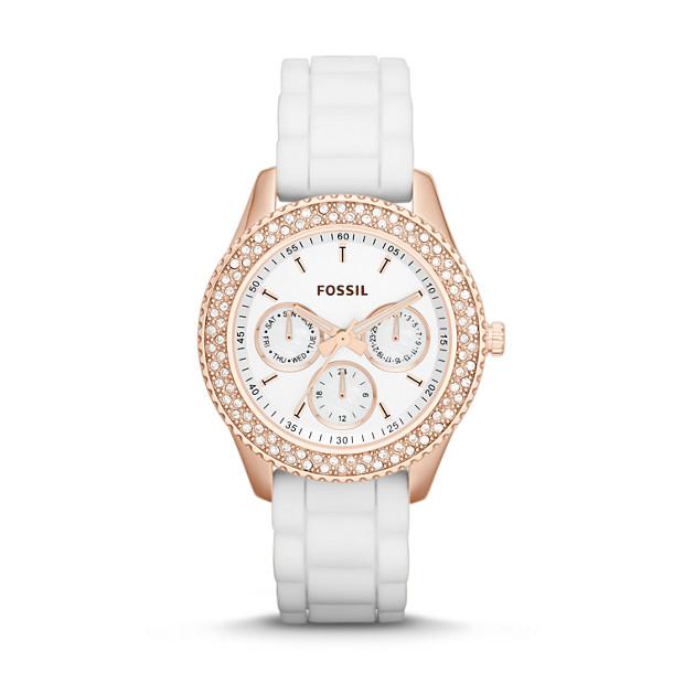 Stella Multifunction White Silicone Watch