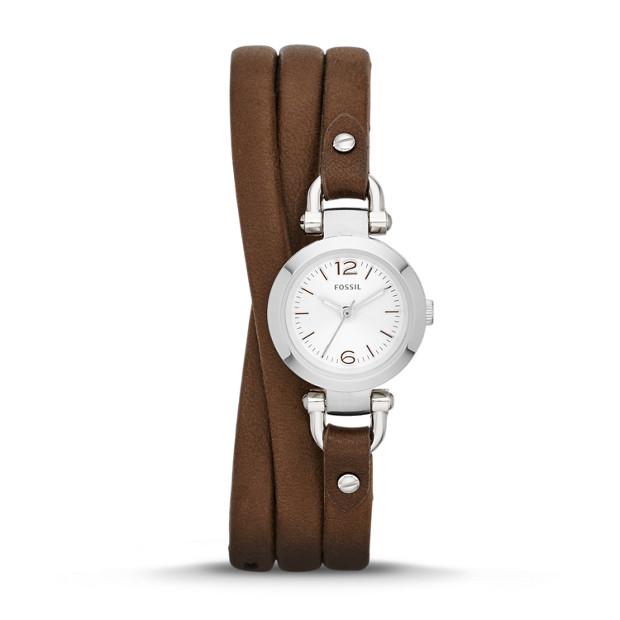 Georgia Mini Brown Leather Watch