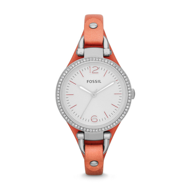 Georgia Pink Leather Watch