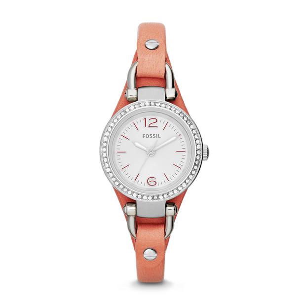 Georgia Mini Pink Leather Watch