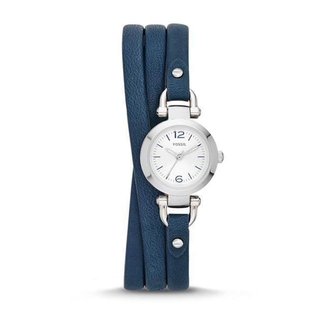 Georgia Navy Leather Watch