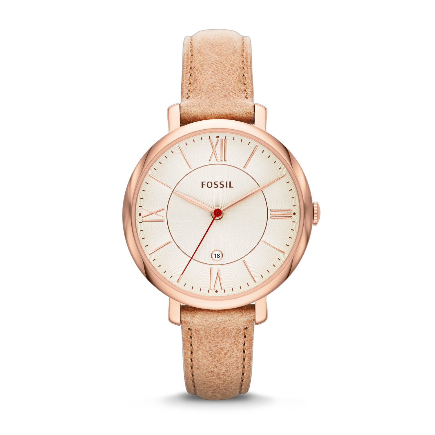 Jacqueline Sand Leather Watch Fossil