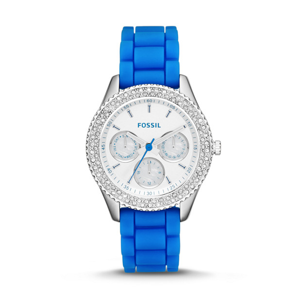 Stella Multifunction Electric Blue Silicone Watch