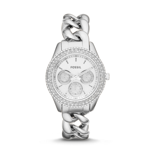 Stella Chain Multifunction Stainless Steel Watch