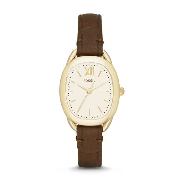 Sculptor Brown Leather Watch