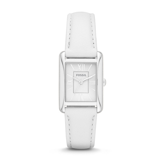 Florence White Leather Watch