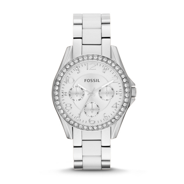 Riley Multifunction Stainless Steel and Nylon Watch