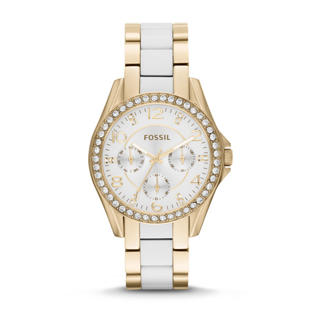 Riley Multifunction Stainless Steel and Nylon Watch - Gold-Tone