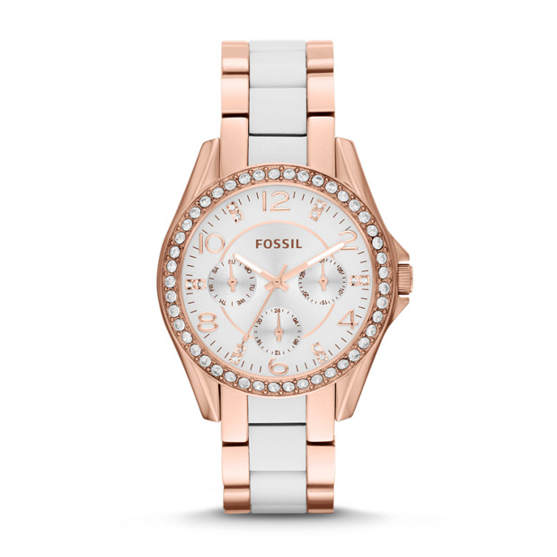 Riley Multifunction Stainless Steel and Nylon Watch - Rose Gold-Tone