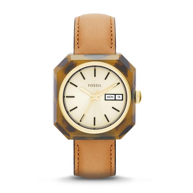 Wrist Pop Tan & Brown Leather Watch
