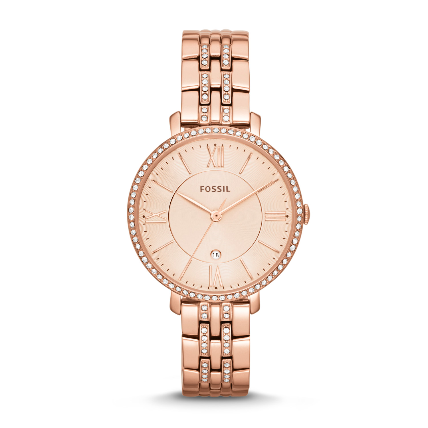 Jacqueline Rose Tone Stainless Steel Watch