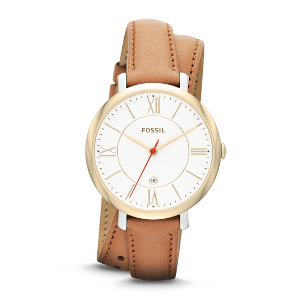 Jacqueline Tan Leather Watch