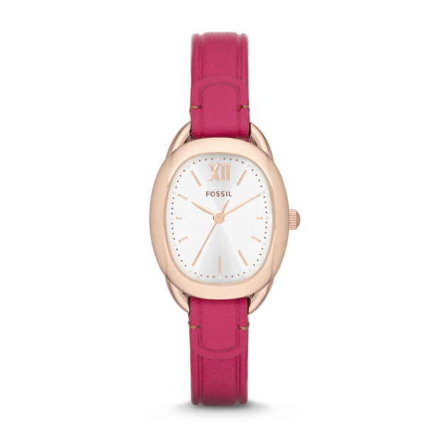 Sculptor Orchid Leather Watch