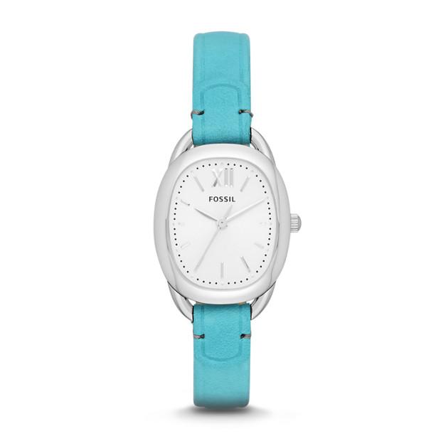 Sculptor Blue Leather Watch