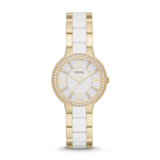 Virginia Three-Hand Stainless Steel and Nylon Watch –Gold-Tone