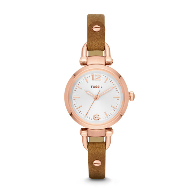 Georgia Reversible Brown Leather Watch
