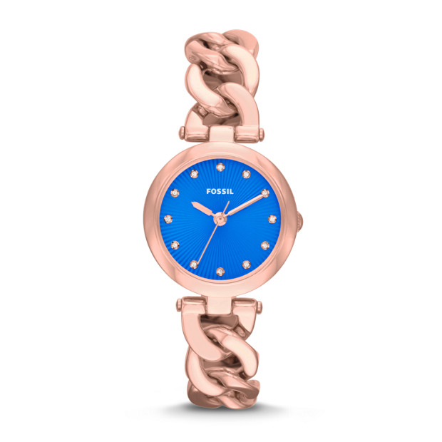Olive Three-Hand Stainless Steel Watch – Rose Gold-Tone