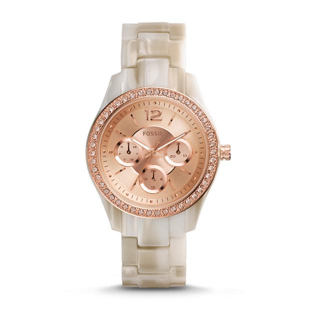 Stella Multifunction Shimmer Horn Resin Watch
