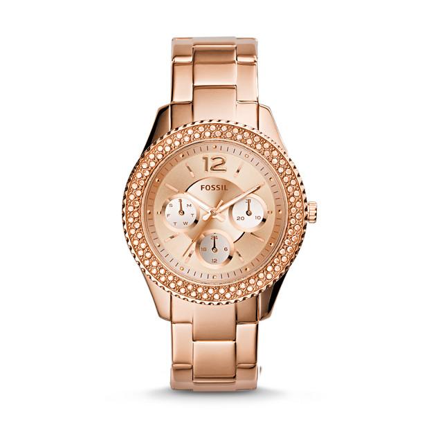Stella Multifunction Rose-Tone Stainless Steel Watch