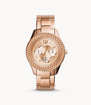Stella Multifunction Rose-Tone Stainless Steel Watch