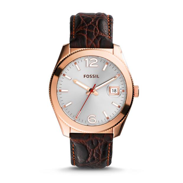 Perfect Boyfriend Espresso Leather Watch