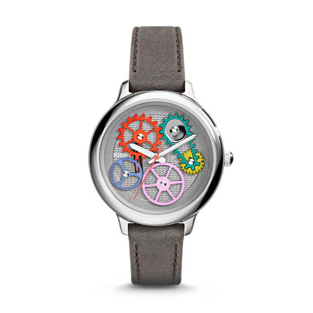 Special Edition Sprocket Gray Leather Watch