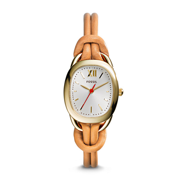 Sculptor Tan Leather Watch