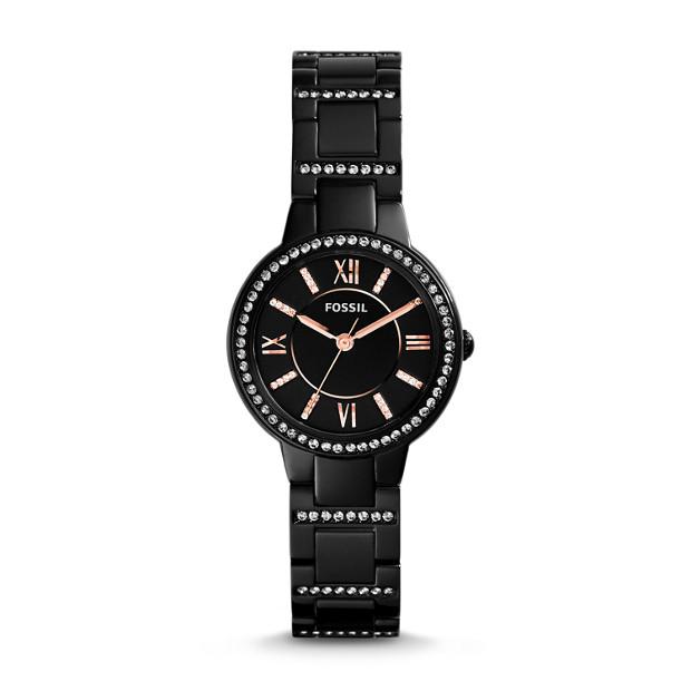 Virginia Black Stainless Steel Watch