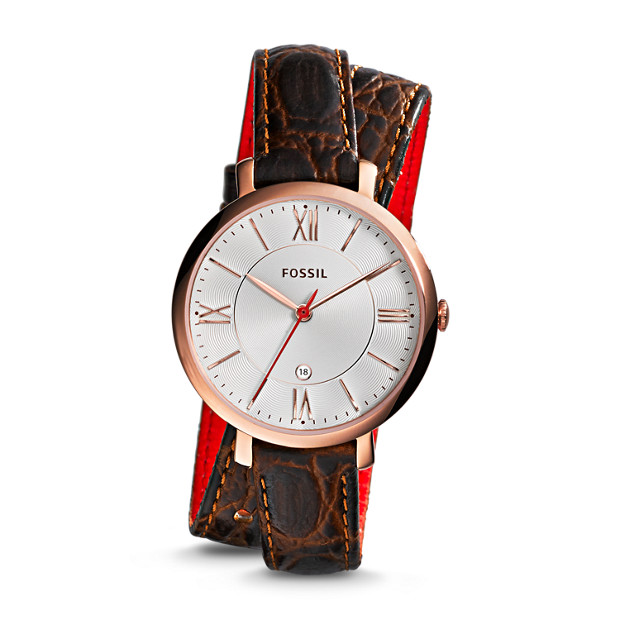 Jacqueline Brown Croco Leather Watch