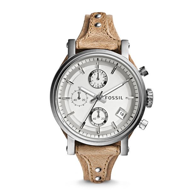 Original Boyfriend Chronograph Bone Leather Watch