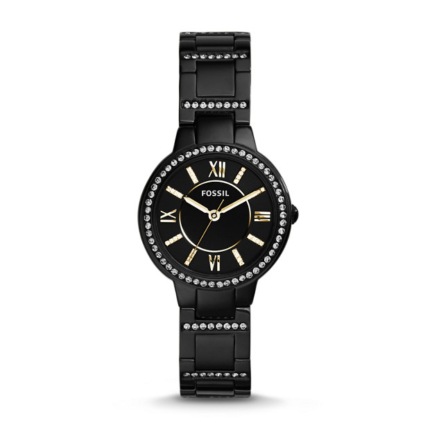 Virginia Three-Hand Stainless Steel Watch - Black
