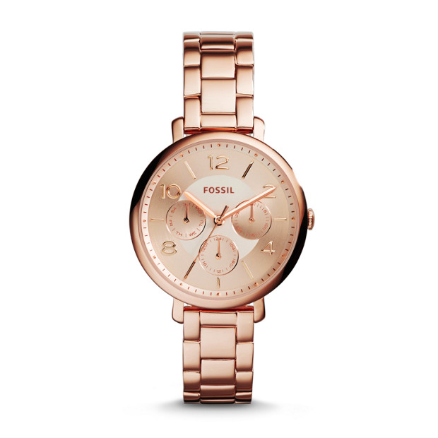 Jacqueline Multifunction Rose-Tone Stainless Steel Watch