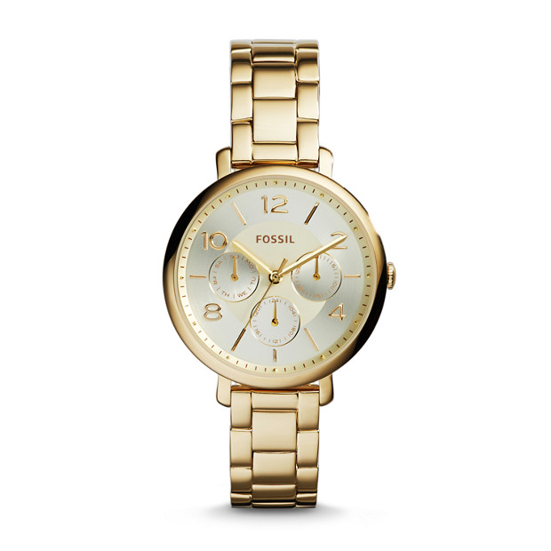 Jacqueline Multifunction Gold-Tone Stainless Steel Watch