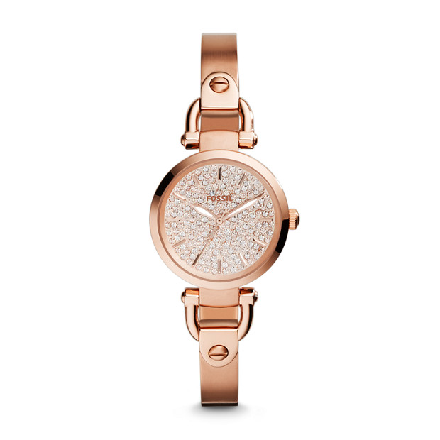 Georgia Three-Hand Stainless Steel Watch - Rose