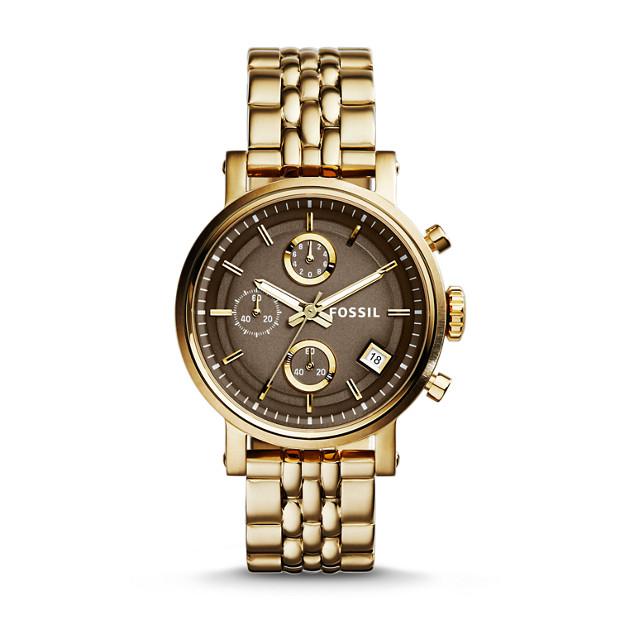Original Boyfriend Chronograph Stainless Steel Watch – Gold-Tone