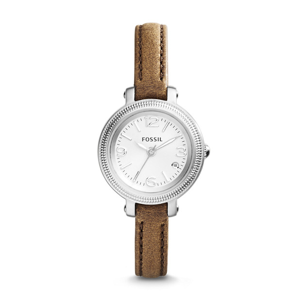 Heather Brown Leather Watch