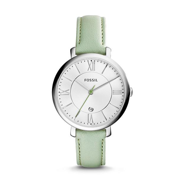 Jacqueline Mint Leather Watch