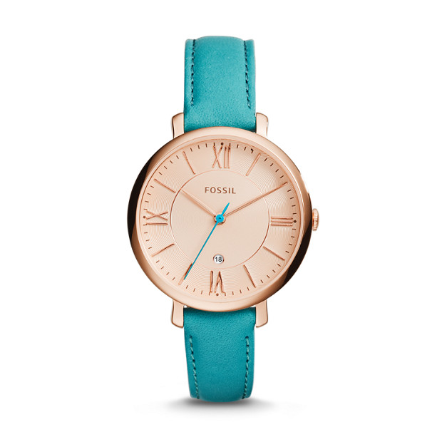 Jacqueline Dragonfly Turquoise Leather Watch