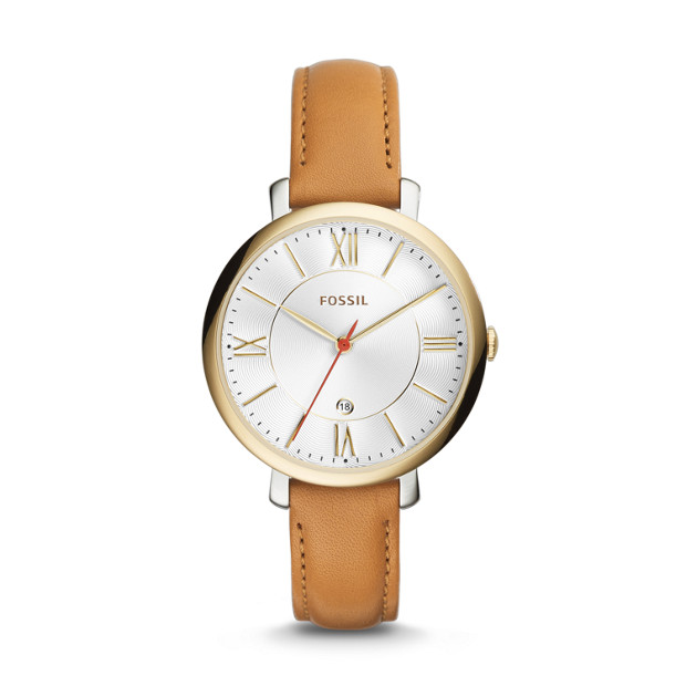 Jacqueline Tan Leather Watch