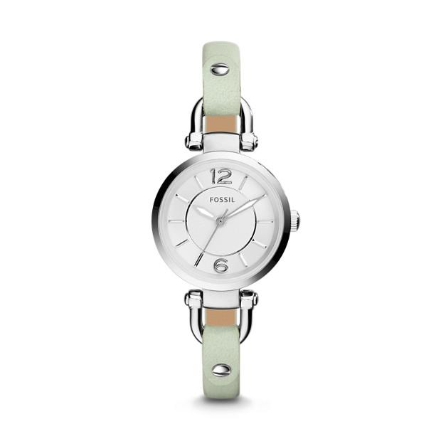 Georgia Mint Leather Watch