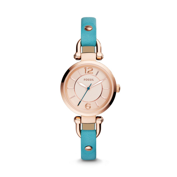 Georgia Turquoise Leather Watch