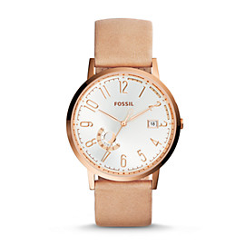 Vintage Muse Sand Leather Watch