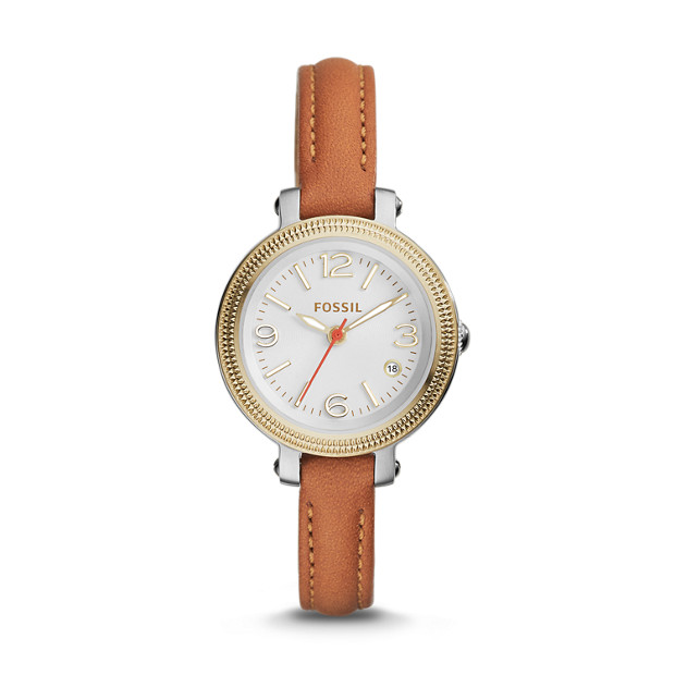 Heather Tan Leather Watch