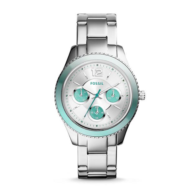 Stella Multifunction Stainless Steel & Mint Watch
