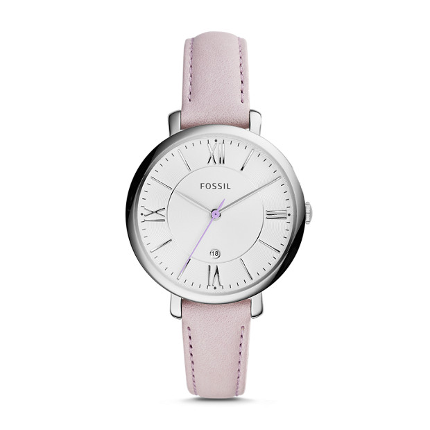 Jacqueline Purple Leather Watch