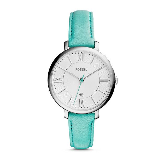 Jacqueline Turquoise Leather Watch