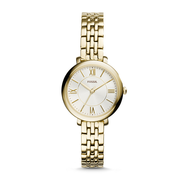 jacqueline mini gold tone stainless steel watch fossil. Black Bedroom Furniture Sets. Home Design Ideas