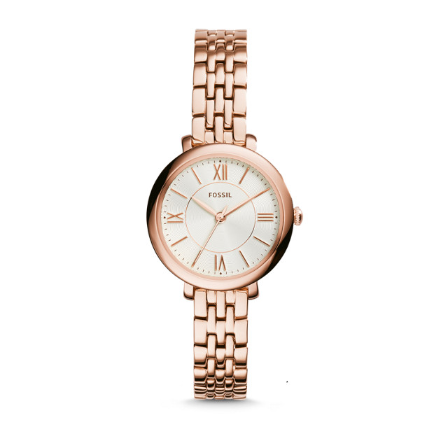 Jacqueline Mini Rose-Tone Stainless Steel Watch