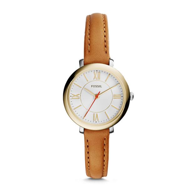 Jacqueline Mini Tan Leather Watch